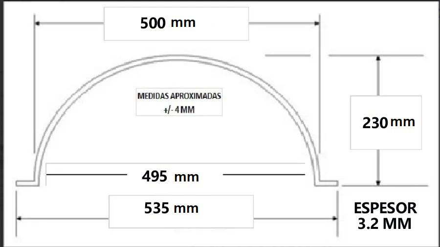 Semi Esfera Acrílico Burbuja Exhibidor 500 mm