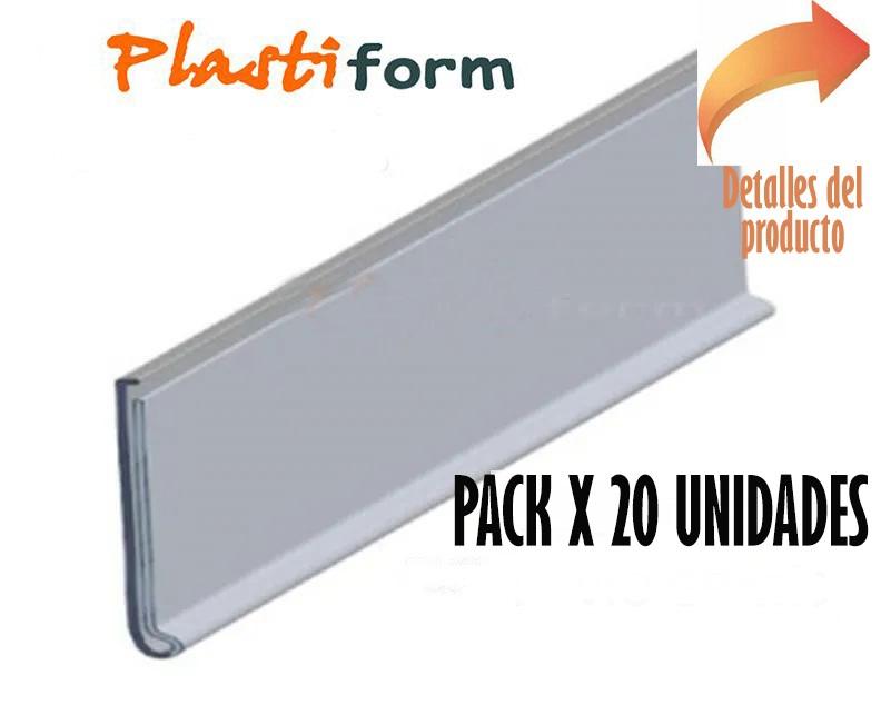 Tira Porta Precios Gondola 80mm x 1220mm pack x 20 unidades