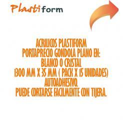 Tira Porta Precios Gondola 45mm x 1300mm pack x 30 unidades