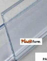 Porta Precios Gondola 1300mmx44 Blanco o Cristal pack x 50 unidades