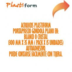 Tira Porta Precios Gondola Alt 35mm x 1300mm pack x 30 unidades